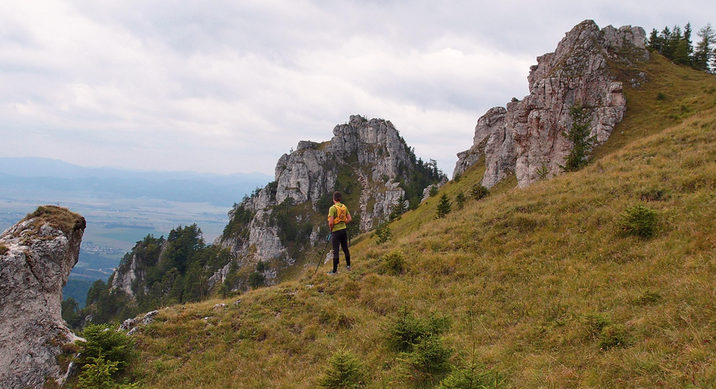 Tomas during his testing of Grivel Mountain Runner Light 5l/ Veľká Fatra- Slovakia
